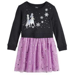 NWT Disney Frozen II Sweater Tutu Dress
